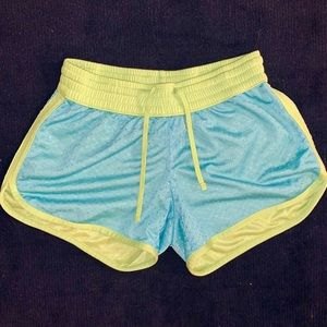 Pants - Blue and Green Workout Shorts